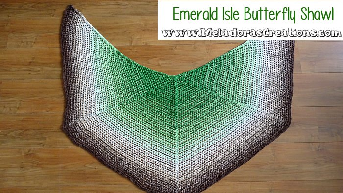Butterfly Shawl Crochet Pattern - Emerald Isle Butterfly Shawl – Free Crochet Pattern