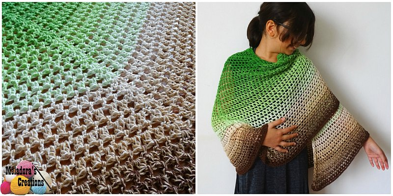 Emerald Isle Butterfly Shawl Free Crochet Pattern Meladora S