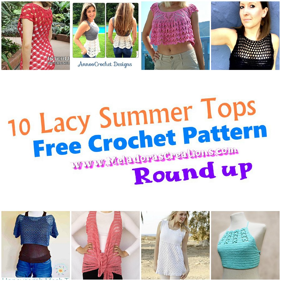 10 lacy summer tops – Free Crochet Pattern round up