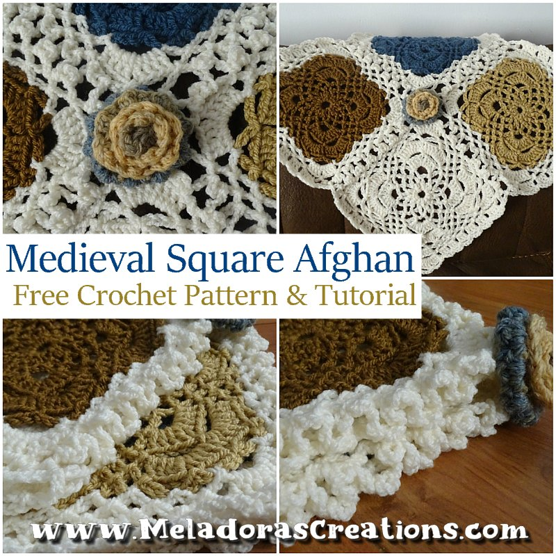 Granny Square Afghan - Medieval Square Afghan – Free Crochet Pattern