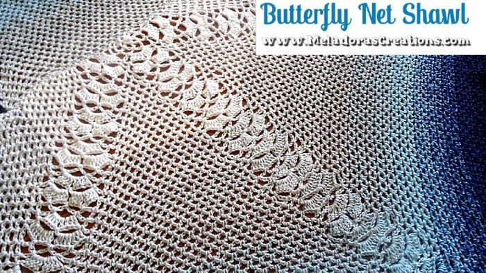 Butterfly Shawl Crochet Pattern - Butterfly Net Shawl - Free Crochet Pattern