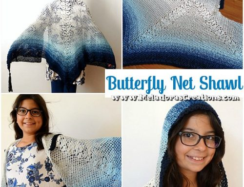 Butterfly Shawl Crochet Pattern – Butterfly Net Shawl – Free Crochet Pattern