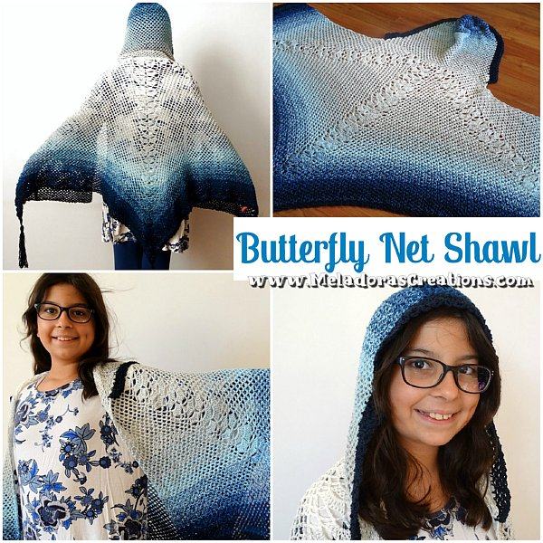 Butterfly Shawl Crochet Pattern