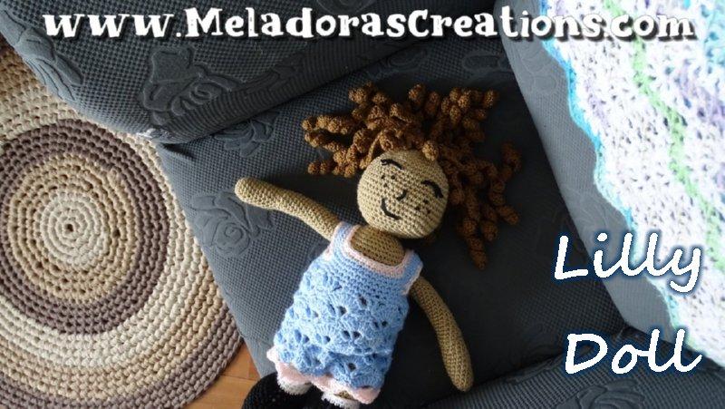 How to Crochet a Rag Doll Pattern - Amigurumi Doll Pattern - Lilly Crochet Doll