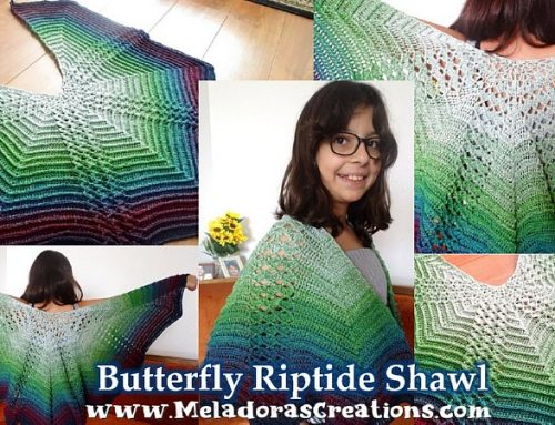Butterfly Shawl Crochet Pattern – Butterfly Riptide Shawl – Free Crochet Pattern