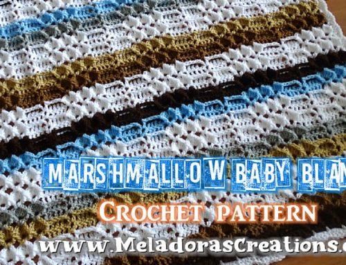 Crochet Baby Blanket – Marshmallow Baby Blanket – Free Crochet pattern