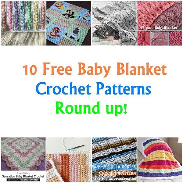 10 Baby Blanket Crochet Pattern Link Round up