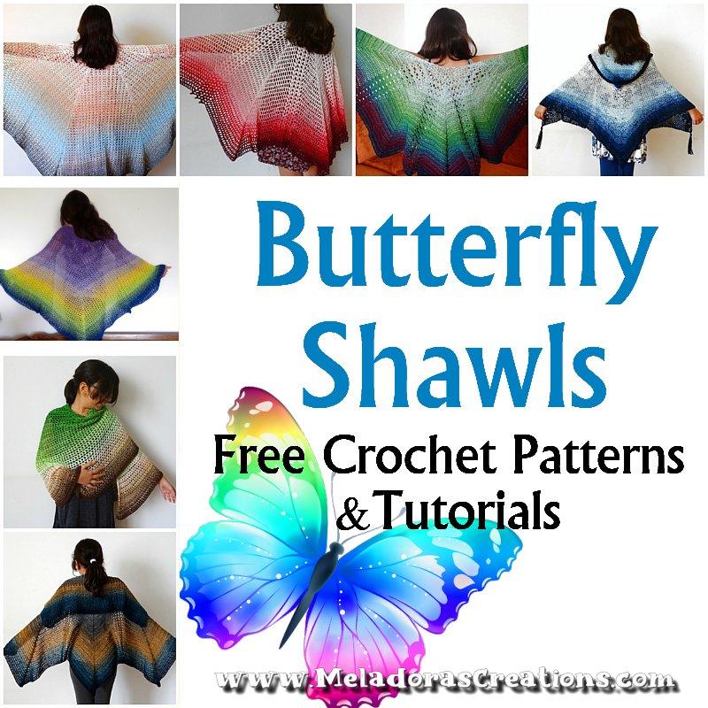 Butterfly Shawl Crochet Patterns - Meladora's Creations