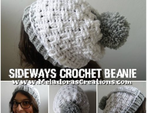 Crochet Sideways Beanie – Basket Weave Stitch – Free Crochet pattern