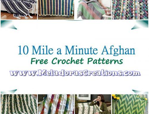 10 Mile a Minute Crochet Afghan – Free Crochet Pattern link Blast – Crochet afghan in Strips