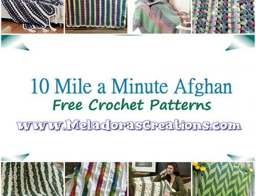 10 Mile a Minute Afghan – Free Crochet Pattern link Blast – Crochet afghan in Strips