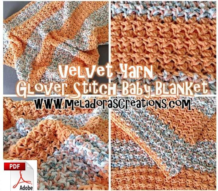 Velvet Yarn Crochet Baby Blanket - Glover Stitch Baby Blanket – Free Crochet Pattern