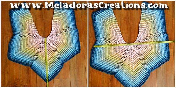 Ripple Butterfly Shawl Crochet Free Pattern and Crochet Tutorial