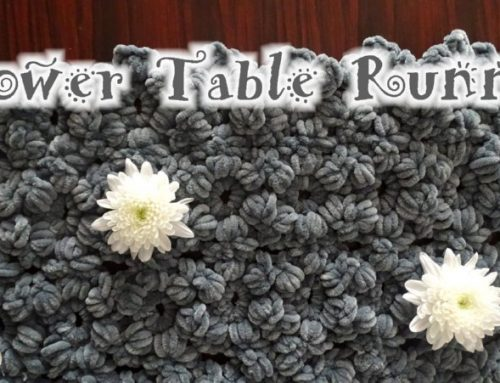 Flower Table Runner Crochet Pattern – Puff Flower Crochet – Crochet for the Home – Free Crochet Pattern