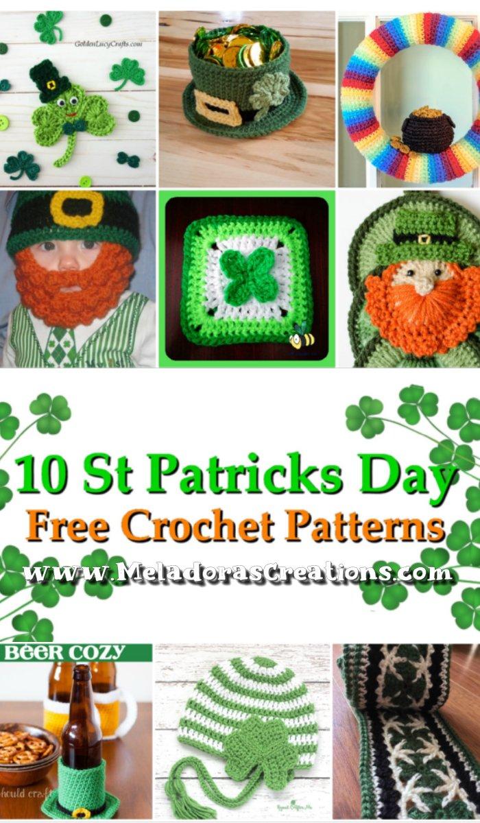 10 Saint Patrick's Day Patterns – Free Crochet Pattern link Blast