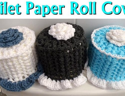 How to Crochet a Toilet Paper Roll Cover – Free Crochet Pattern and video tutorial
