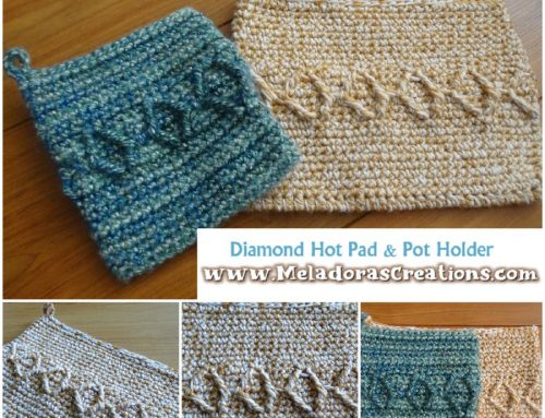 Crochet Pot Holder and Hot Pad Pattern – Diamond Crochet Pot holder – Free Crochet pattern