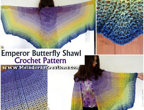 Crochet Butterfly Shawl Pattern – Emperor Butterfly Shawl – Free Crochet Pattern