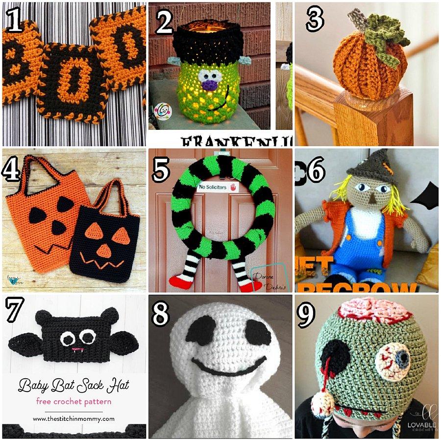 10 Halloween Decorations – Free Crochet Pattern link Blast