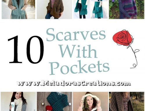 10 Scarves with Pockets – Free Crochet Pattern link Blast