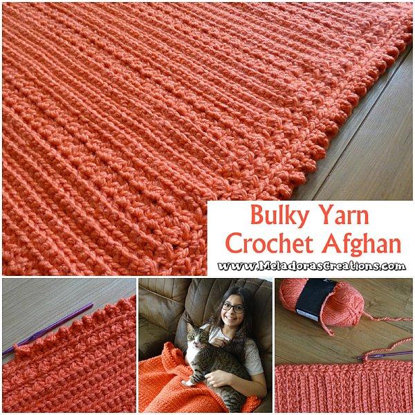 Bulky Yarn Crochet Afghan – Free Crochet pattern