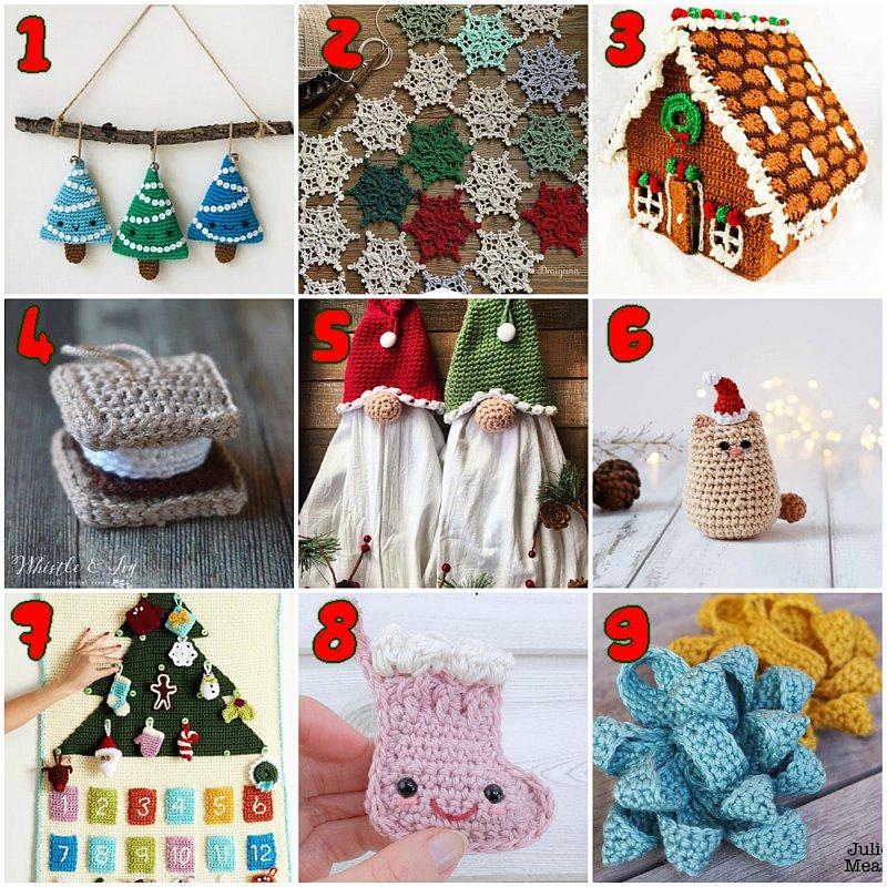 10 Free Christmas Crochet Patterns – Crochet Pattern link Blast