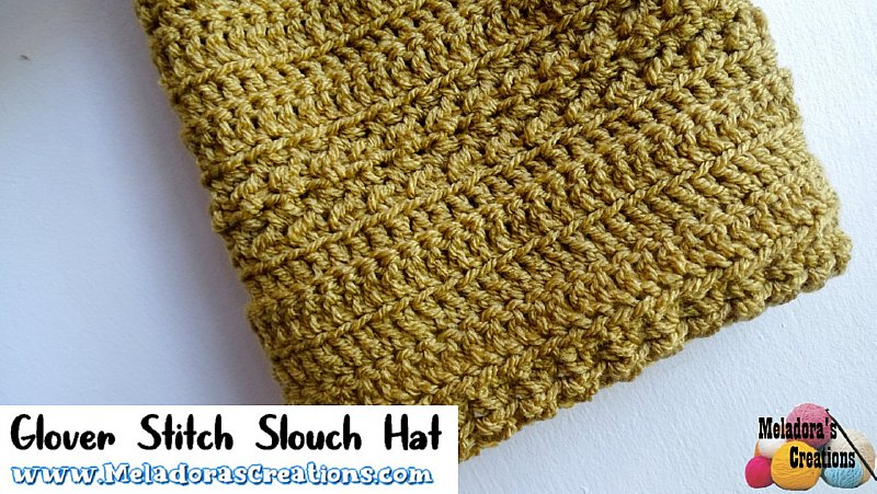 Glover Stitch Slouch Hat – Free Crochet pattern
