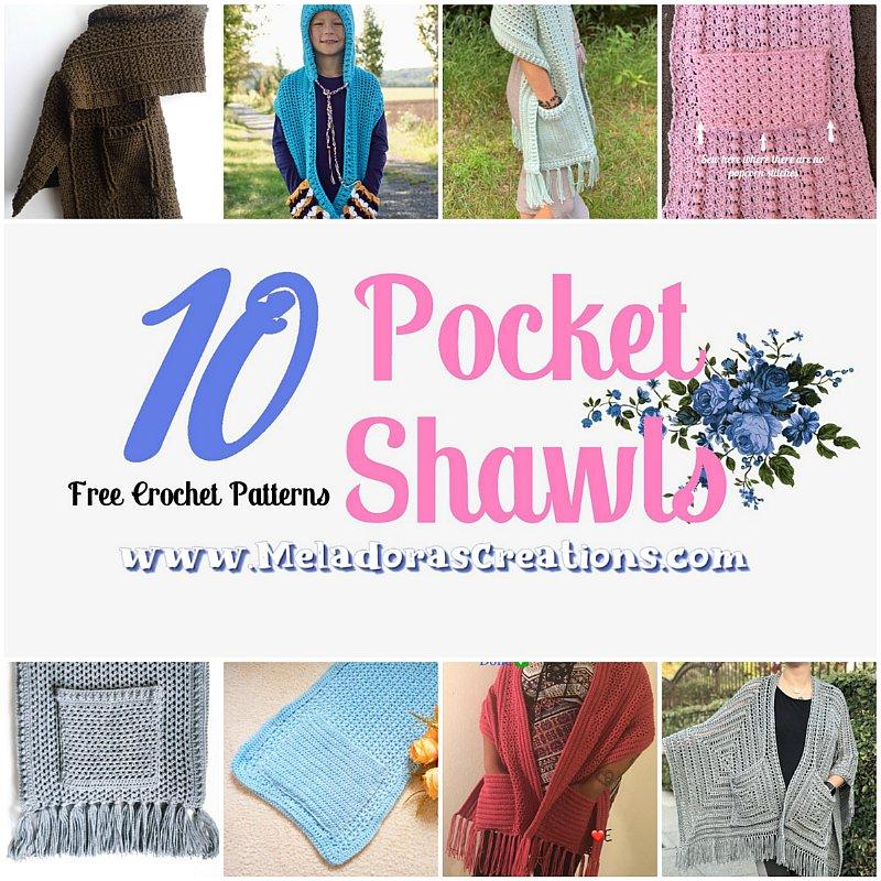 10 Free Crochet Pocket Shawls – Crochet Link Blast