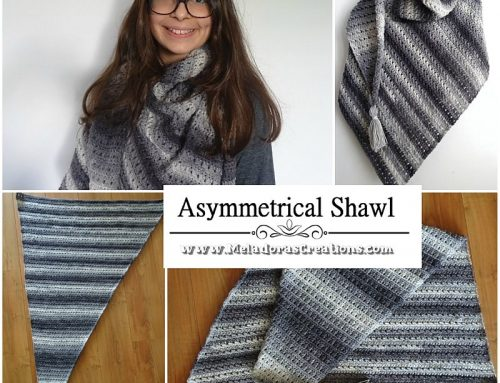 Crochet Asymmetrical Shawl – Free Crochet Shawl Pattern