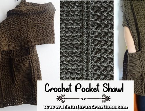 Cable Pocket Shawl Crochet Pattern – Crochet Pocket Shawl