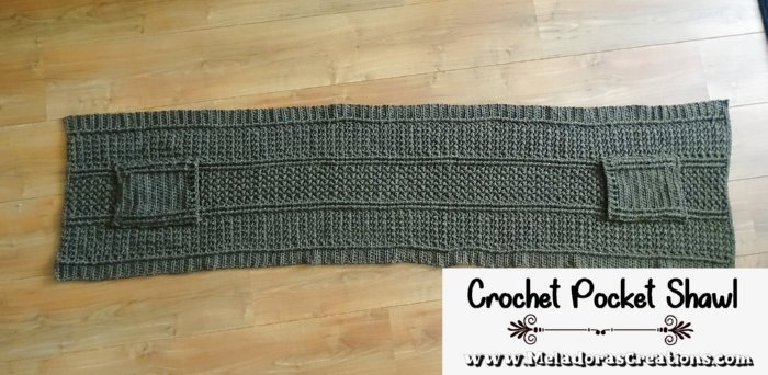 Cable Pocket Shawl Crochet Pattern - Crochet Pocket Shawl