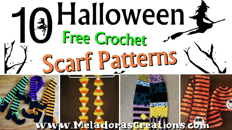 10 Free Halloween Scarf Crochet Patterns Link Blast