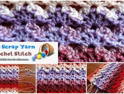 Perfect Scrap Yarn Crochet Stitch – Free Crochet pattern
