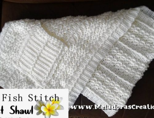 Star Fish Pocket Shawl – Free Crochet pattern