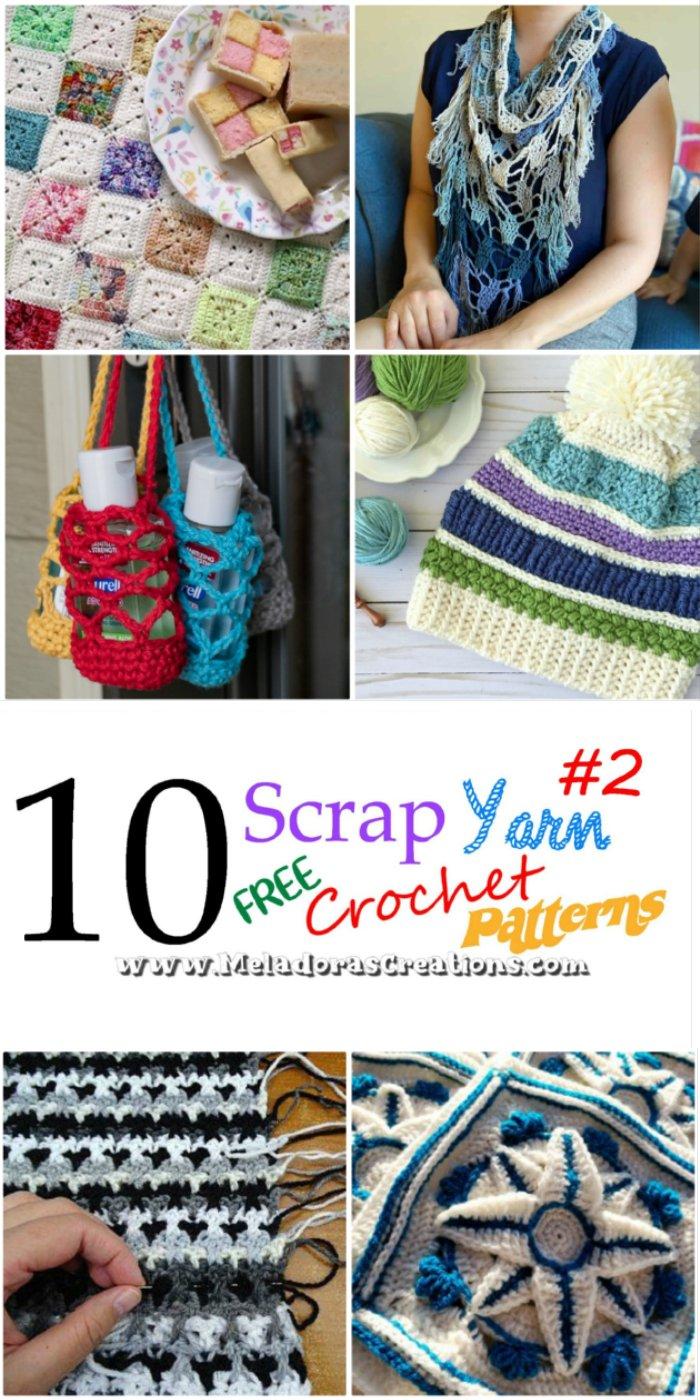 10 Scrap Yarn Crochet Patterns #2 – Free Crochet Patterns for left over wool