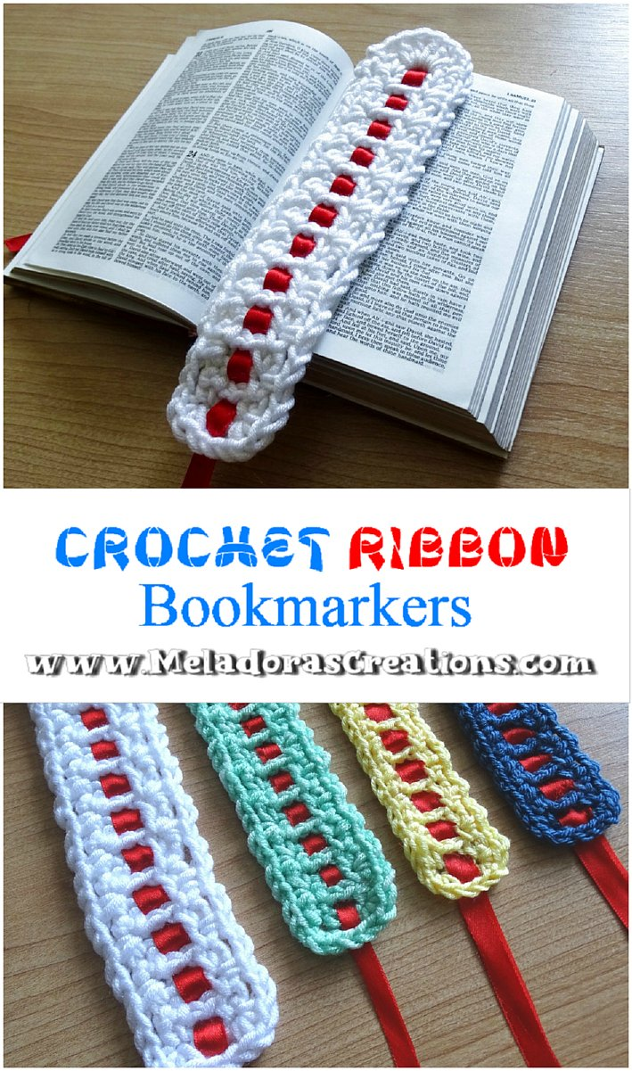 Crochet Ribbon Bookmarkers – Free Crochet pattern