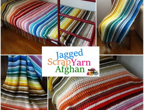 Jagged Scrap Yarn Afghan – Free Crochet pattern