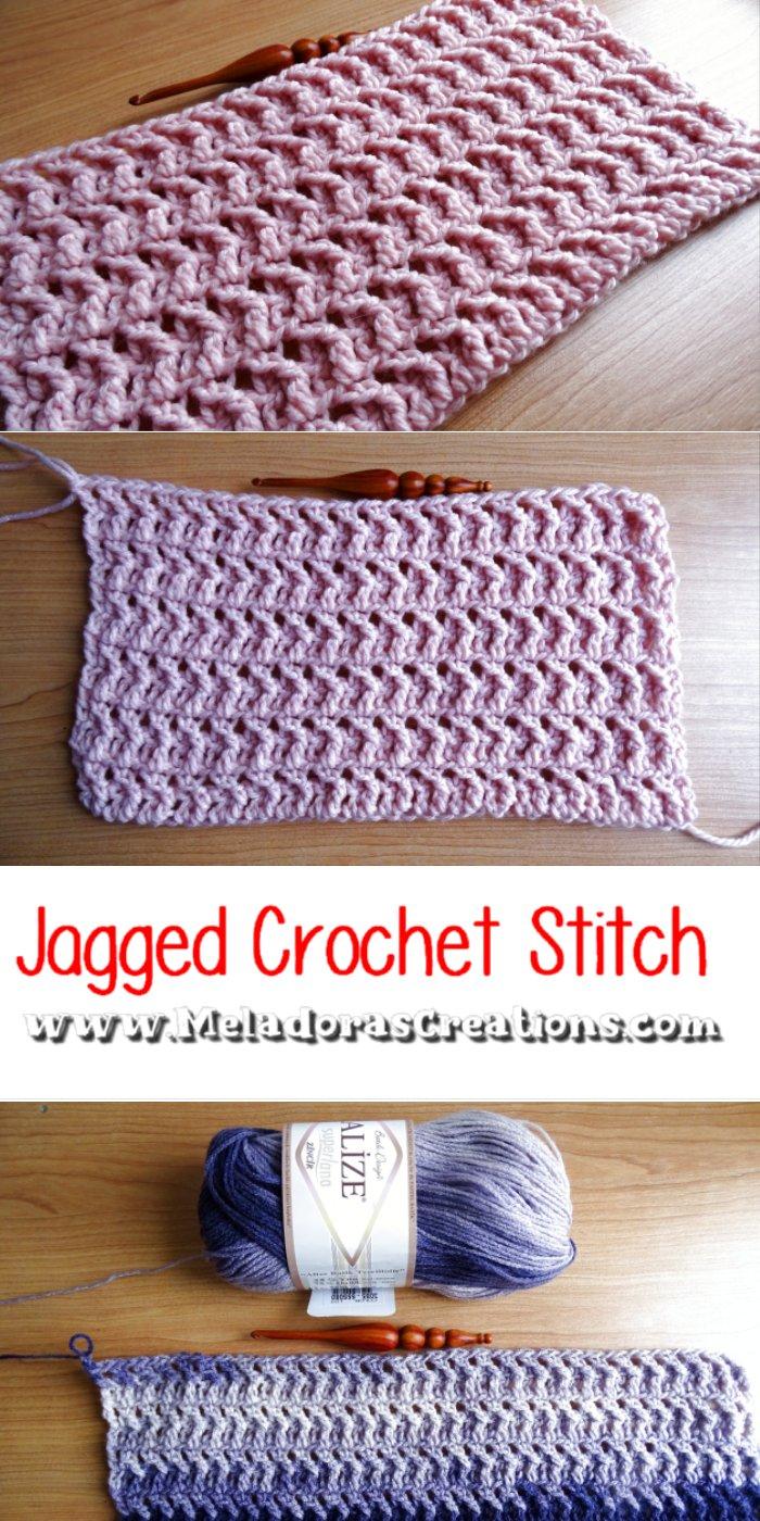 Jagged Crochet Stitch – Free Crochet pattern