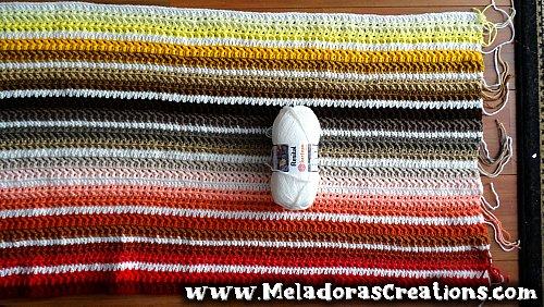 Jagged Scrap Yarn Afghan – Free Crochet pattern