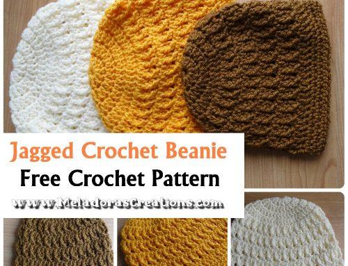 Jagged Crochet Beanie – Free Crochet pattern