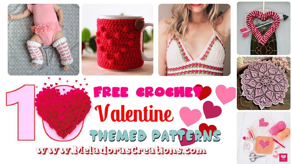 10 Free Valentine Themed Crochet Patterns – Free Crochet Pattern Link Blast