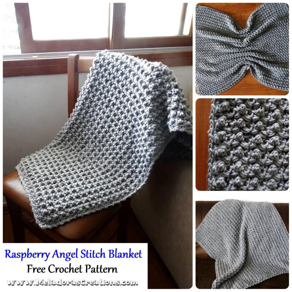 Raspberry Angel Baby Crochet Afghan or Throw – Free Crochet Pattern