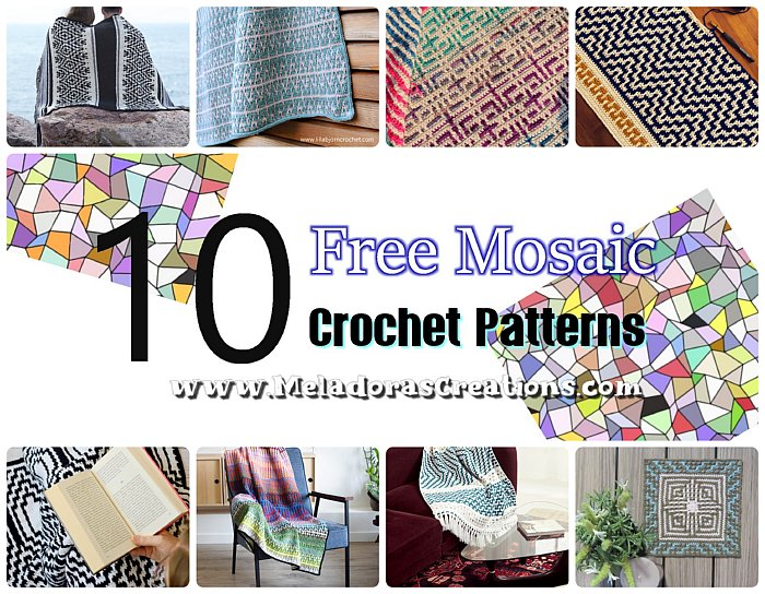 10 Free Mosaic Crochet Pattern Link Blast