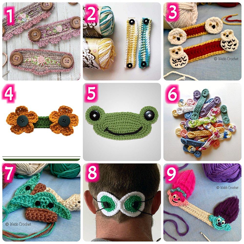 10 Free Ear Savers Crochet Patterns - Crochet Round up