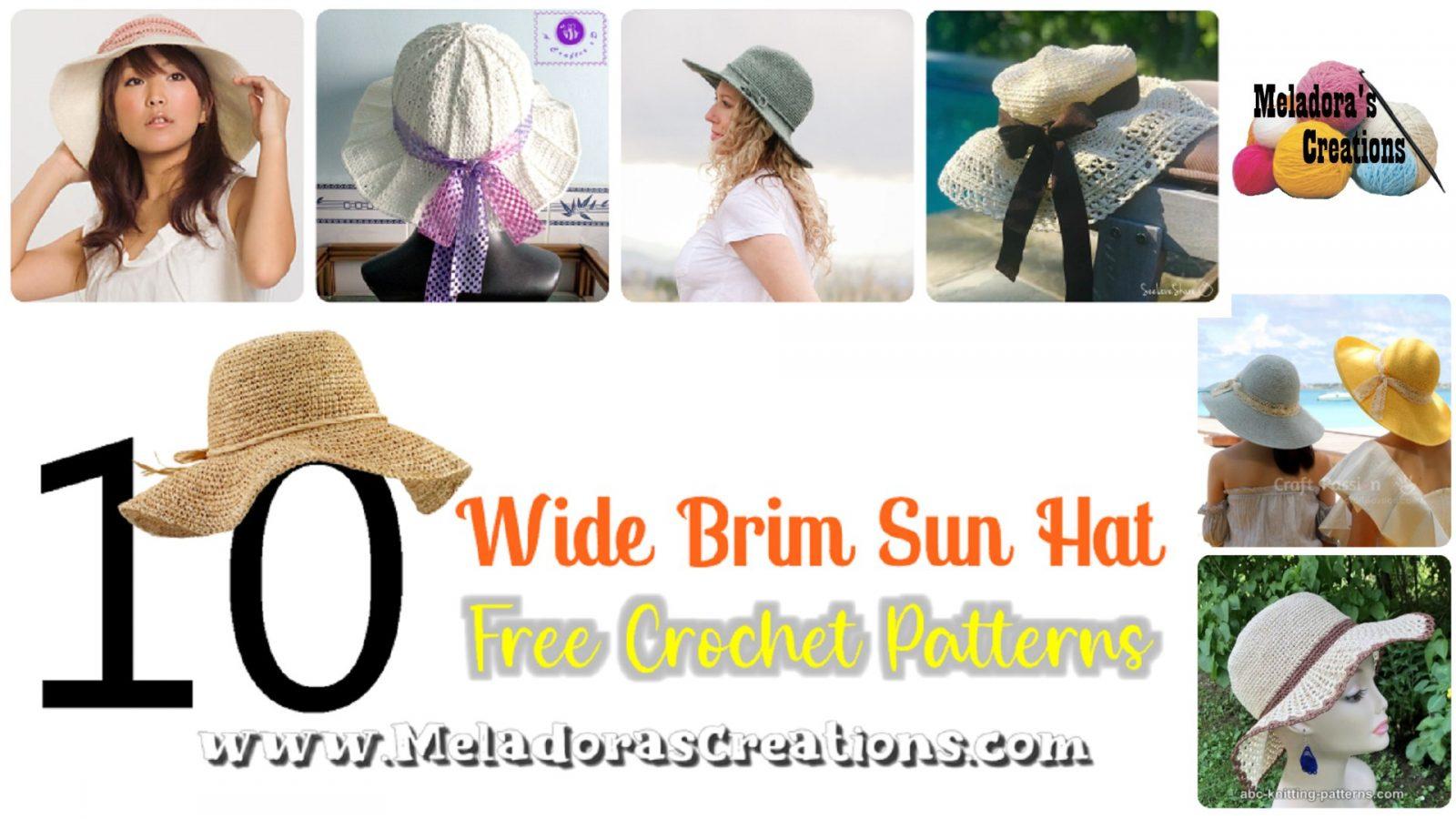 10 Free Sun Hat Crochet Pattern – Free Crochet link blast