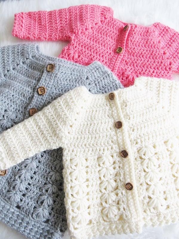10 Free Baby Cardigan Crochet Pattern - Crochet Round up