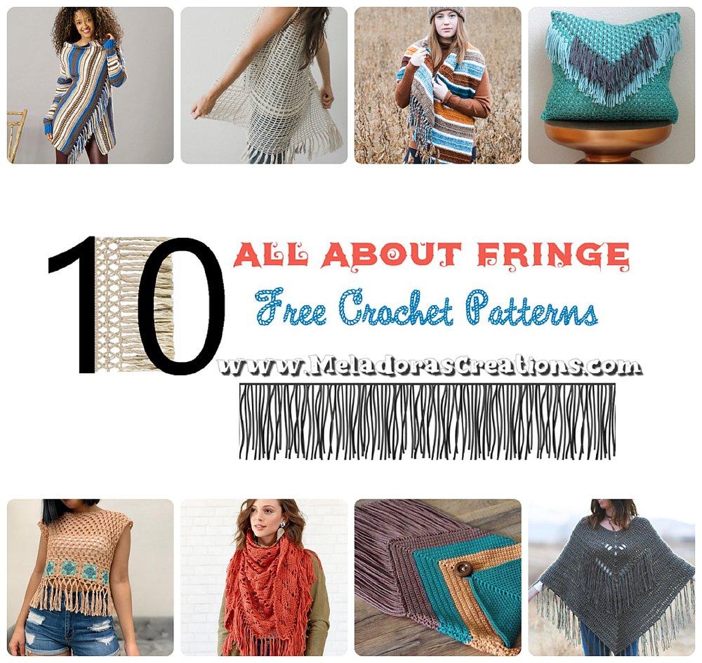 10 All About Fringe – Boho Crochet Patterns - Free Crochet Pattern Link blast