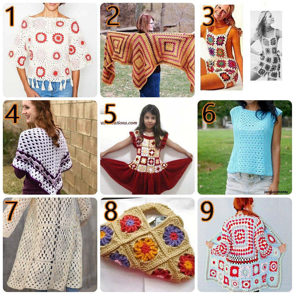 10 Granny Square Patterns – Free Crochet Pattern Link blast