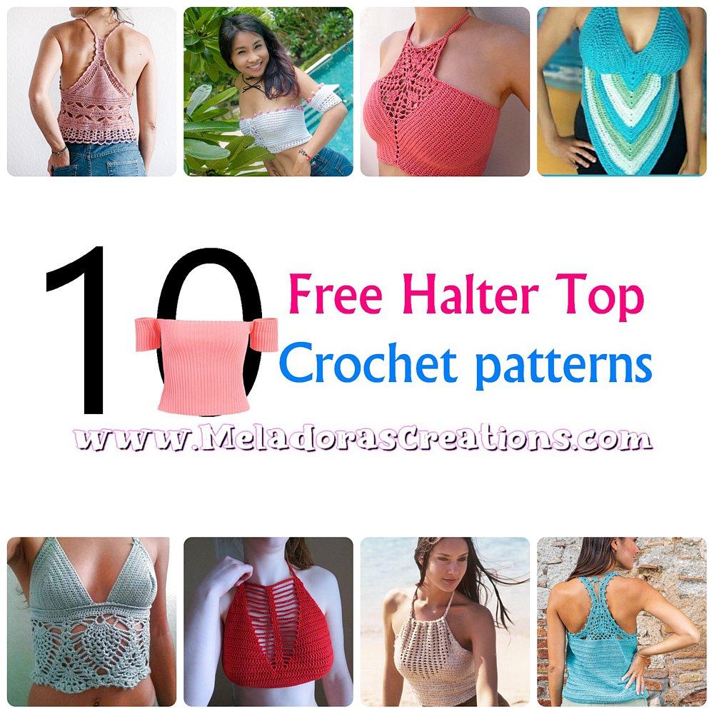 10 Halter Top Crochet Patterns – Free Crochet Pattern Link blast