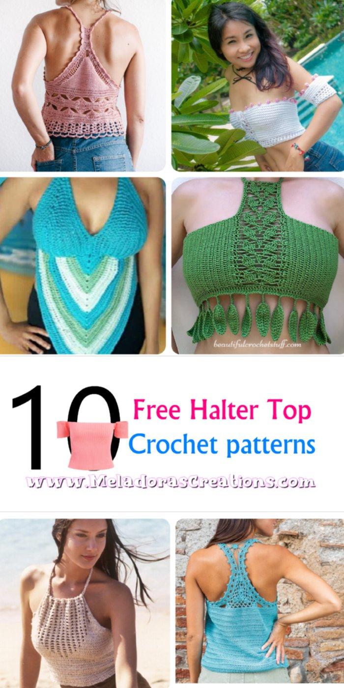 10 Halfter Top Häkelanleitungen – Free Crochet Pattern Link blast
